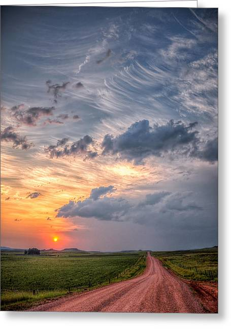 Sunshine And Storm Clouds Greeting Card