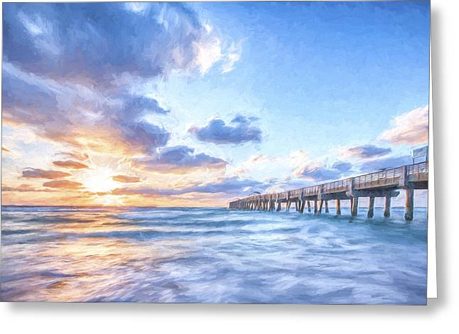 Sunshine At The Pier II Greeting Card by Jon Glaser