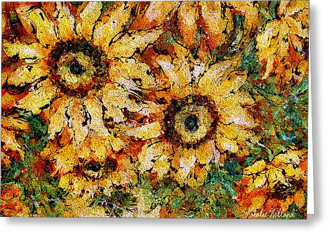 Sunshine Bouquet Greeting Card by Natalie Holland