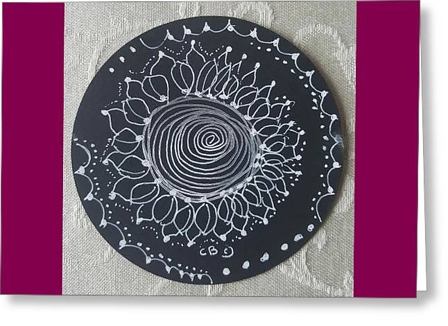 Greeting Card featuring the drawing Sunshine by Carole Breccht