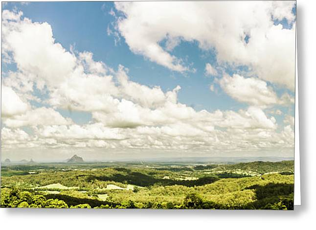 Sunshine Coast Hinterland Panoramic  Greeting Card by Jorgo Photography - Wall Art Gallery