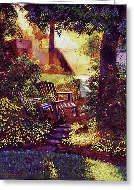 Sunshine Garden Greeting Card by David Lloyd Glover
