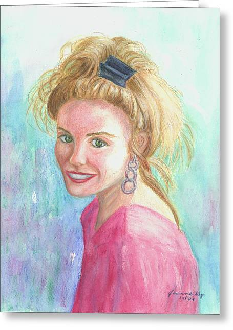 Greeting Card featuring the painting Sunshine Girl by Jeanne Kay Juhos