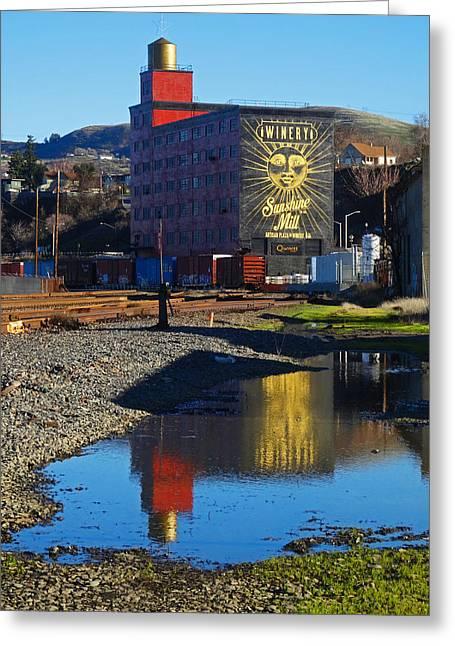 Sunshine Mill Reflection Greeting Card