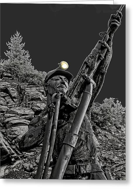 Sunshine Silver Mine Memorial - Kellogg Idaho Greeting Card by Daniel Hagerman
