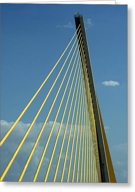 Sunshine Skyway Bridge - Color Greeting Card by Mitch Spence
