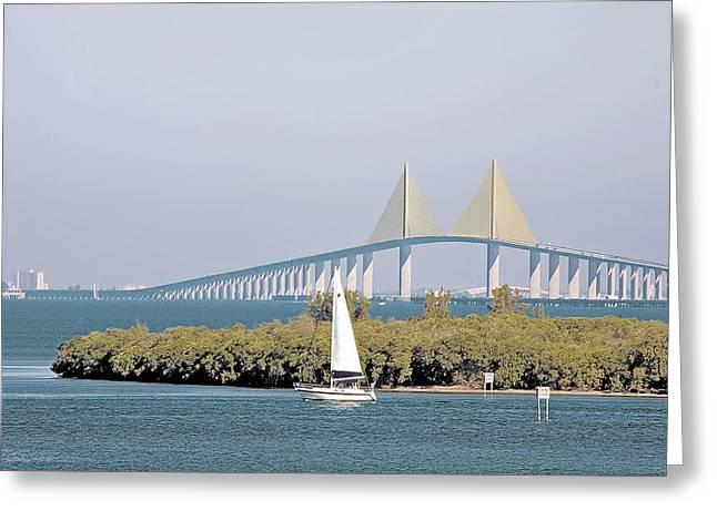 Sunshine Skyway Bridge Greeting Card