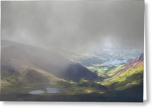 Sunshine Through The Low Cloud Greeting Card