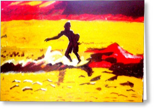 Sunsplashed Surf Greeting Card