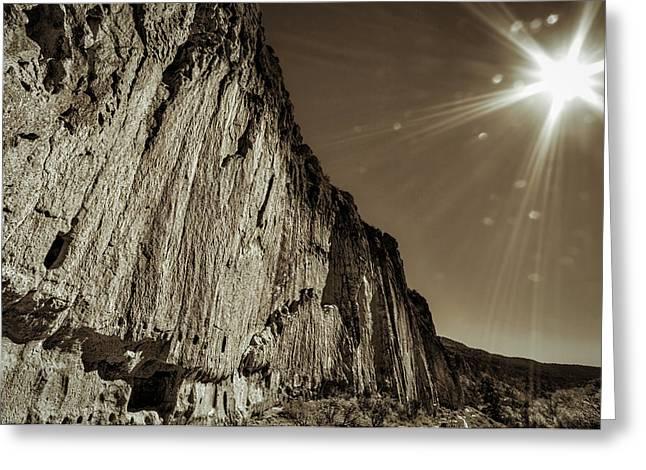 Sunstar At Bandelier Greeting Card by Stuart Litoff