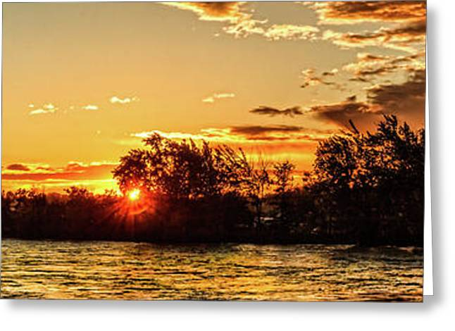Sunstar Over The Payette Greeting Card