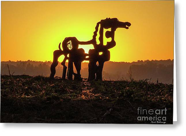 Suntan The Iron Horse Collection Art  Greeting Card