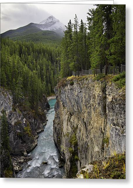 Sunwapta Falls Canyon Greeting Card