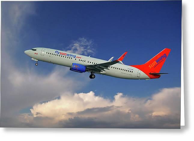 Sunwing Airlines Boeing 737-8bk Greeting Card