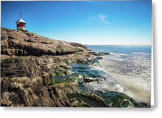Suomenlinna Small Lighthouse - Helsinki, Finland - Seascape Photography Greeting Card by Giuseppe Milo