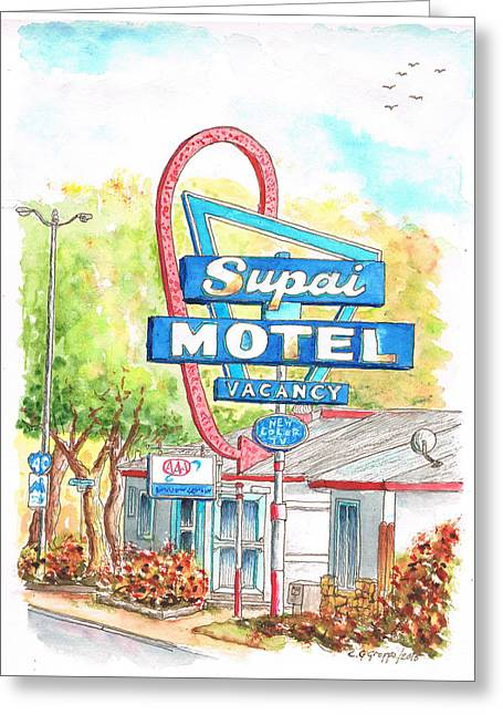 Supai Motel In Route 66, Seliman, Arizona Greeting Card