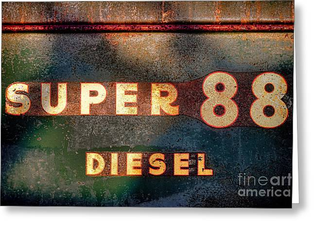 Super 88 Diesel Greeting Card by Olivier Le Queinec
