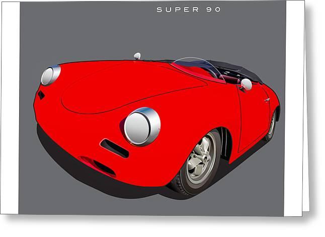 Porsche Super 90 Image Greeting Card by Alain Jamar