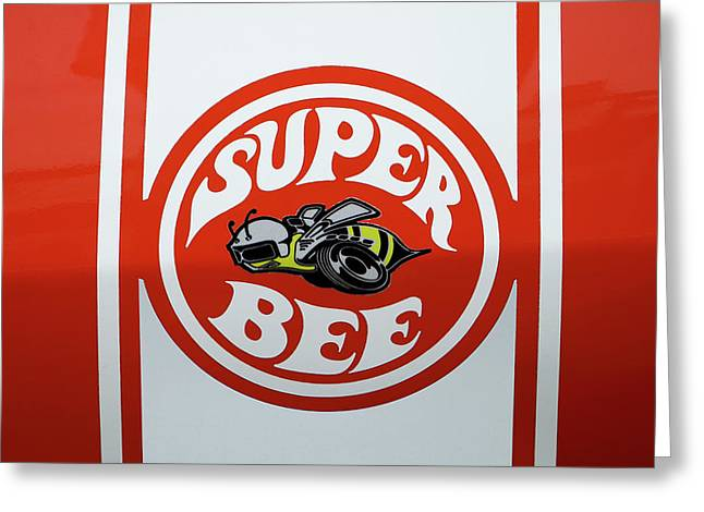 Greeting Card featuring the photograph Super Bee Emblem by Mike McGlothlen
