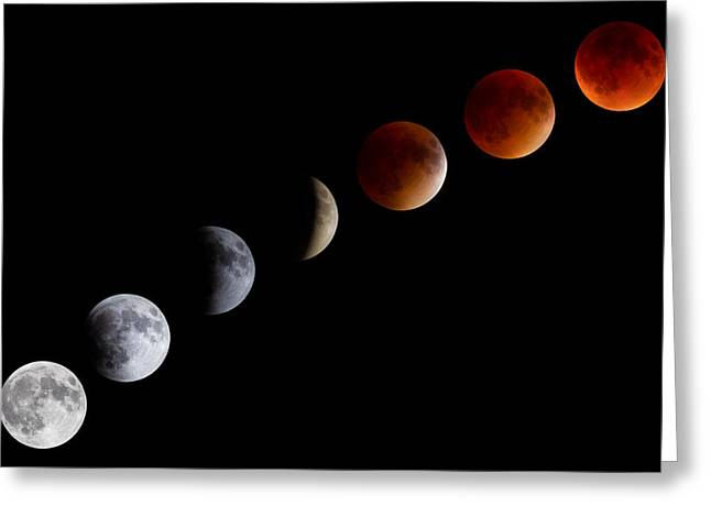 Super Blood Moon Eclipse Greeting Card by Brian Caldwell