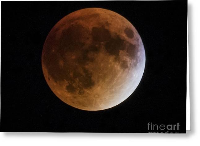 Super Blood Moon Lunar Eclipses Greeting Card