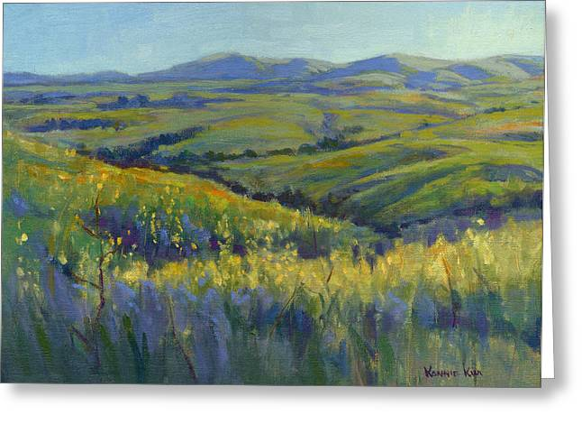 Greeting Card featuring the painting Super Bloom 3 by Konnie Kim