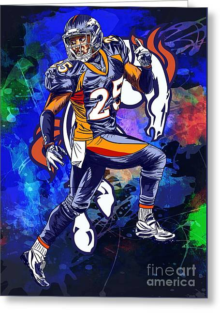 Greeting Card featuring the drawing Super Bowl 2016  by Andrzej Szczerski