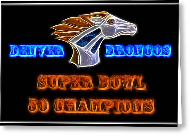 Greeting Card featuring the photograph Super Bowl 50 Champions by Shane Bechler