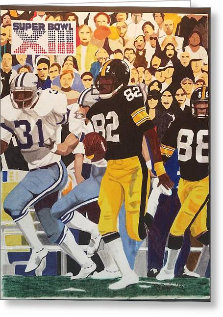 Steelers - Cowboys Super Bowl Xlll Greeting Card