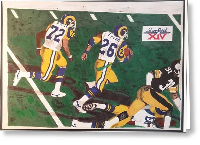 Los Angeles Rams Super Bowl Greeting Card by TJ Doyle