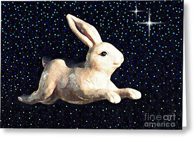 Super Bunny Greeting Card by Sarah Loft