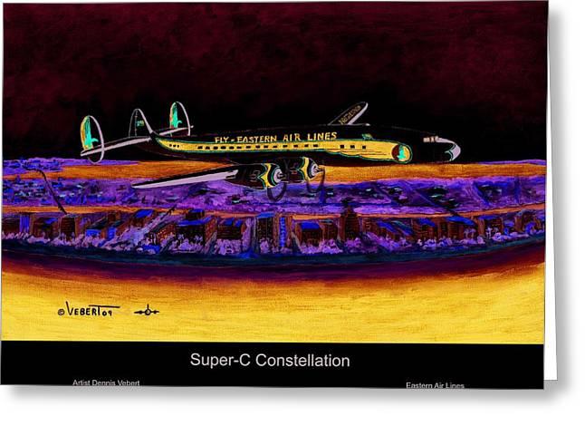 Super-c Constellation Greeting Card by Dennis Vebert