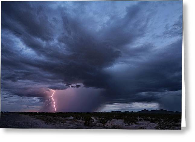 Super Cell In The Sonoran  Greeting Card