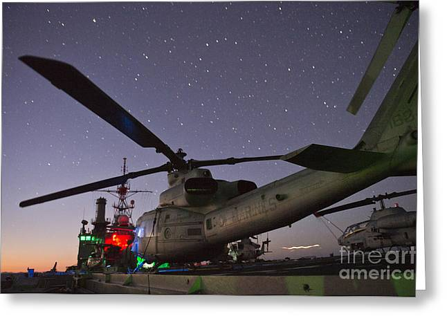 Super Cobra Helicopters Greeting Card by Celestial Images