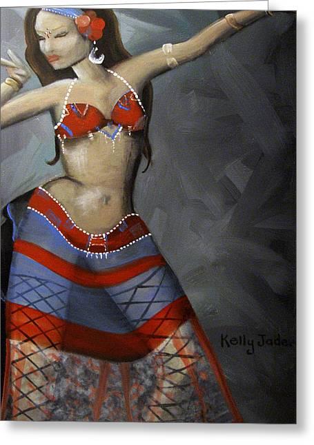 Super Dancing Wonder Woman Greeting Card