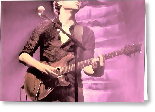 Super Diamond Guitarist Greeting Card