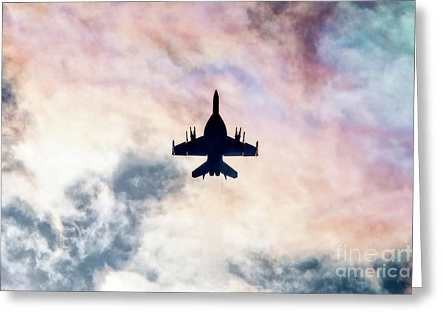 Super Hornet Silhouette Greeting Card