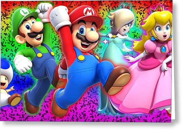 Super Mario 3d World Greeting Card