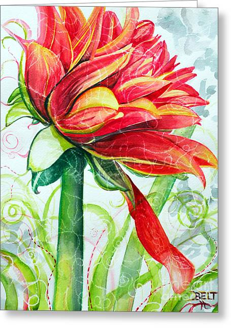 Ruby Greeting Card by Christine Belt