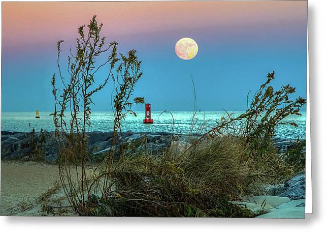 Super Moon 2016 Greeting Card by Jerry Gammon