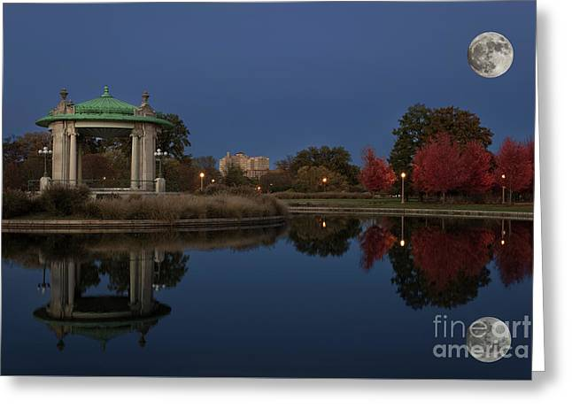 Greeting Card featuring the photograph Super Moon by Andrea Silies