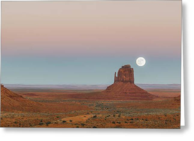 Super Moon In Monument Valley Greeting Card by Jon Glaser