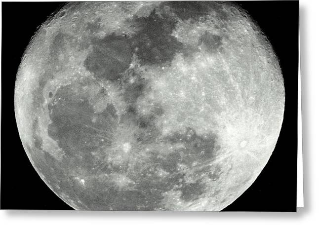 March Moon Greeting Cards - Super Moon Greeting Card by Lisa Scott