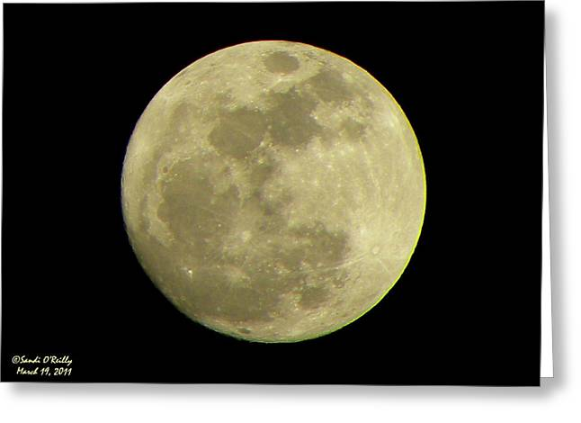 Super Moon March 19 2011 Greeting Card by Sandi OReilly