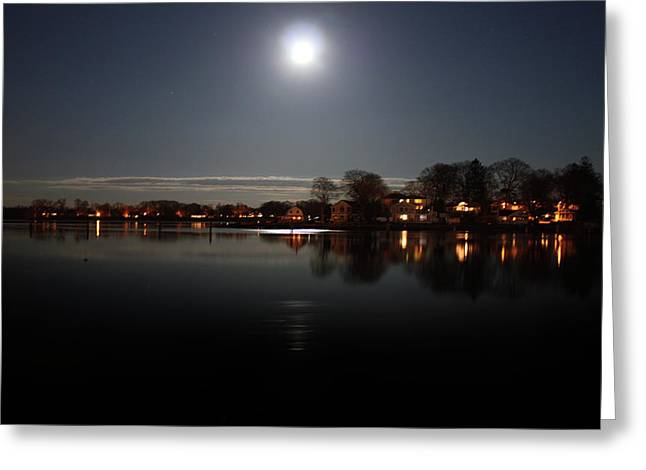 Super Moon  Greeting Card by Mark Ashkenazi