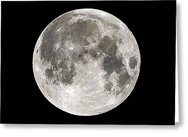 Super Moon Greeting Card by Mike Ronnebeck