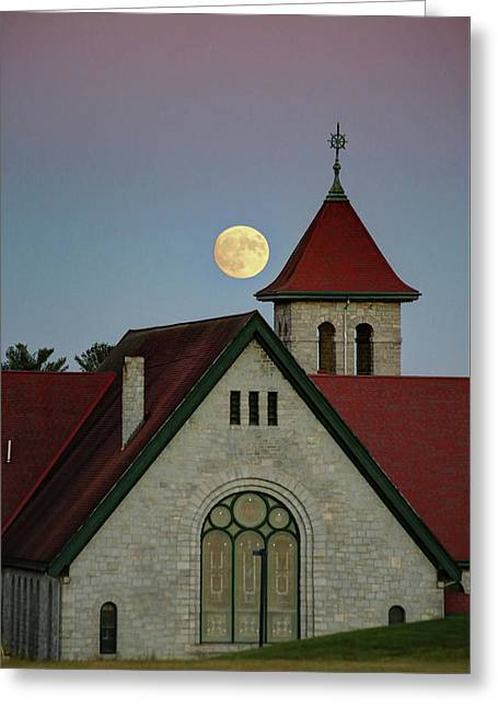 Super Moon Rising Greeting Card