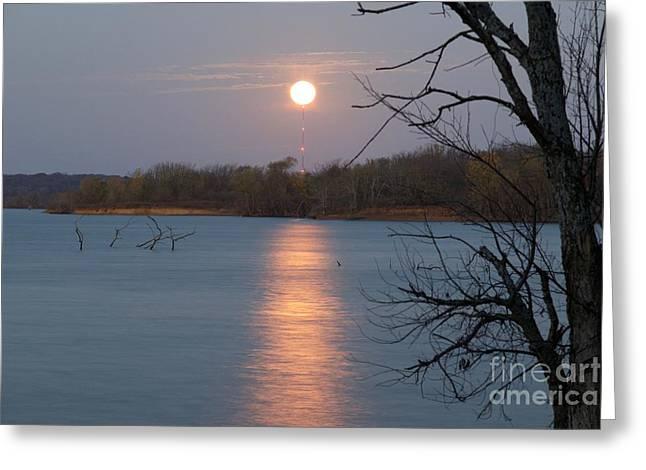 Super Moonset Greeting Card