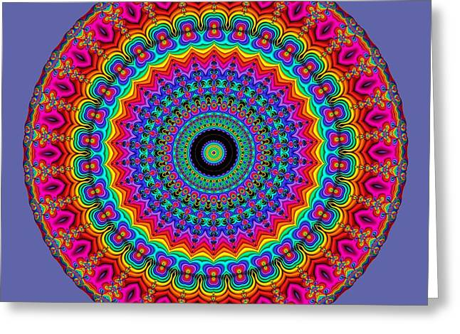 Super Rainbow Mandala Greeting Card