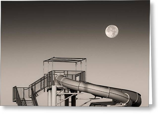 Super Slider Moon Greeting Card by Don Spenner